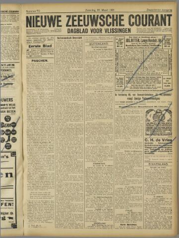 Nieuwe Zeeuwsche Courant 1921-03-26