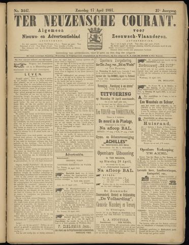 Ter Neuzensche Courant. Algemeen Nieuws- en Advertentieblad voor Zeeuwsch-Vlaanderen / Neuzensche Courant ... (idem) / (Algemeen) nieuws en advertentieblad voor Zeeuwsch-Vlaanderen 1897-04-17