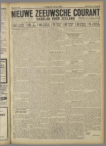 Nieuwe Zeeuwsche Courant 1922-01-20
