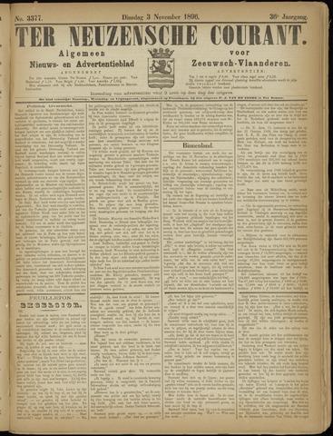Ter Neuzensche Courant. Algemeen Nieuws- en Advertentieblad voor Zeeuwsch-Vlaanderen / Neuzensche Courant ... (idem) / (Algemeen) nieuws en advertentieblad voor Zeeuwsch-Vlaanderen 1896-11-03