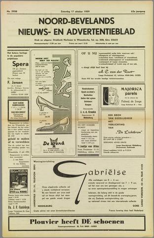 Noord-Bevelands Nieuws- en advertentieblad 1959-10-17