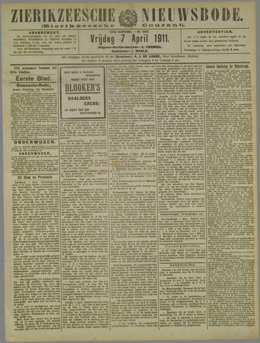 Zierikzeesche Nieuwsbode 1911-04-07