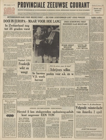 Provinciale Zeeuwse Courant 1963-01-26