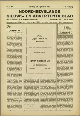 Noord-Bevelands Nieuws- en advertentieblad 1950-09-23