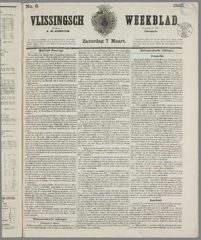 Vlissings Weekblad 1863-03-07