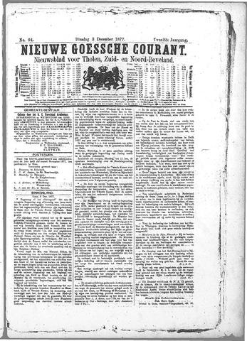 Nieuwe Goessche Courant 1877-12-03