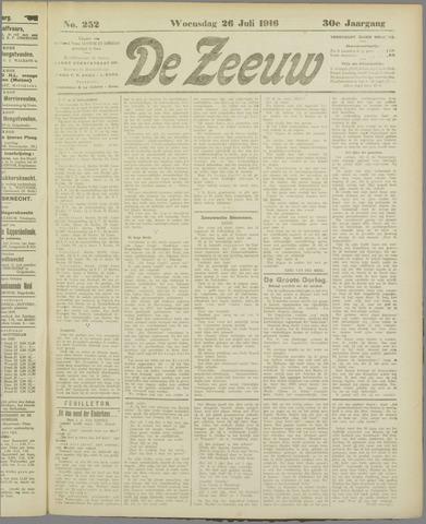 De Zeeuw. Christelijk-historisch nieuwsblad voor Zeeland 1916-07-26