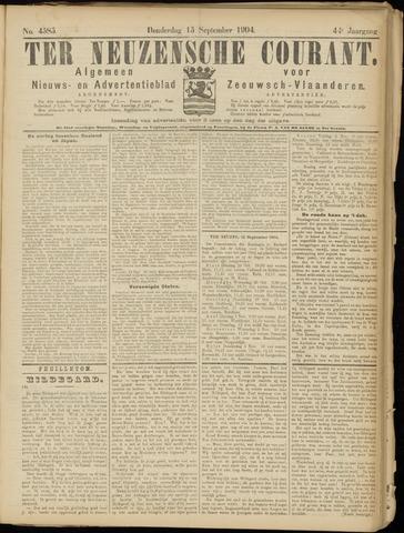Ter Neuzensche Courant. Algemeen Nieuws- en Advertentieblad voor Zeeuwsch-Vlaanderen / Neuzensche Courant ... (idem) / (Algemeen) nieuws en advertentieblad voor Zeeuwsch-Vlaanderen 1904-09-15