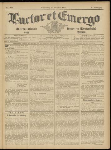 Luctor et Emergo. Antirevolutionair nieuws- en advertentieblad voor Zeeland / Zeeuwsch-Vlaanderen. Orgaan ter verspreiding van de christelijke beginselen in Zeeuwsch-Vlaanderen 1912-10-23