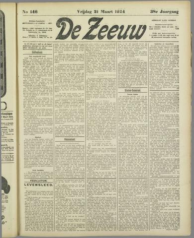 De Zeeuw. Christelijk-historisch nieuwsblad voor Zeeland 1924-03-21