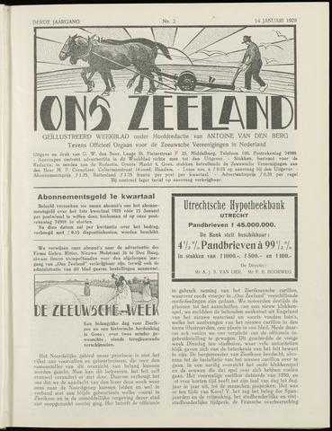 Ons Zeeland / Zeeuwsche editie 1928-01-14