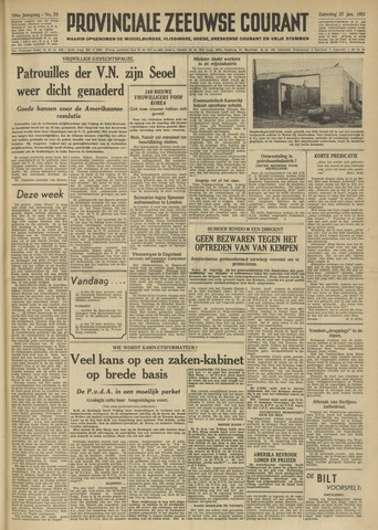 Provinciale Zeeuwse Courant 1951-01-27