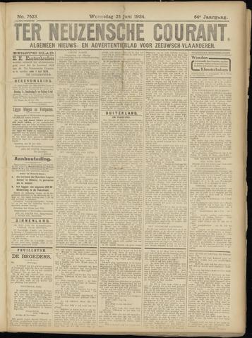 Ter Neuzensche Courant. Algemeen Nieuws- en Advertentieblad voor Zeeuwsch-Vlaanderen / Neuzensche Courant ... (idem) / (Algemeen) nieuws en advertentieblad voor Zeeuwsch-Vlaanderen 1924-06-25