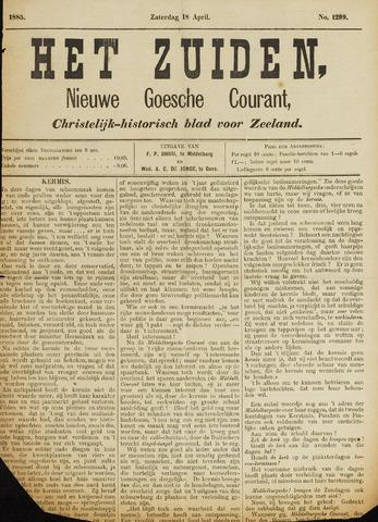 Het Zuiden, Christelijk-historisch blad 1885-04-18
