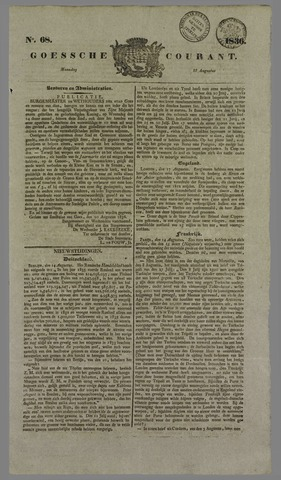 Goessche Courant 1836-08-22