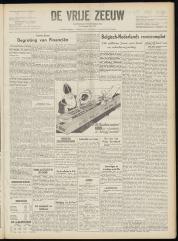 de Vrije Zeeuw 1952-11-29