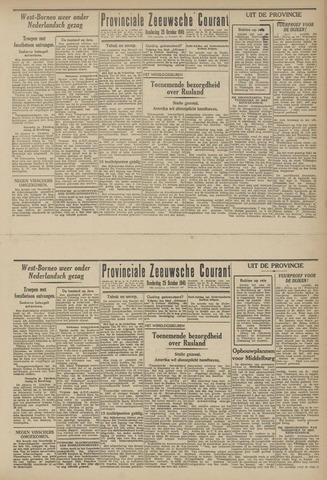 Provinciale Zeeuwse Courant 1945-10-25
