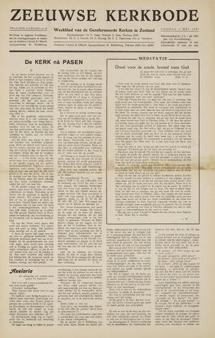 Zeeuwsche kerkbode, weekblad gewijd aan de belangen der gereformeerde kerken/ Zeeuwsch kerkblad 1957-05-03