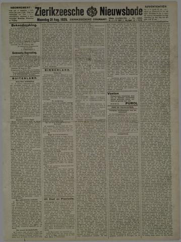 Zierikzeesche Nieuwsbode 1925-08-31