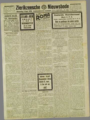 Zierikzeesche Nieuwsbode 1926-09-08