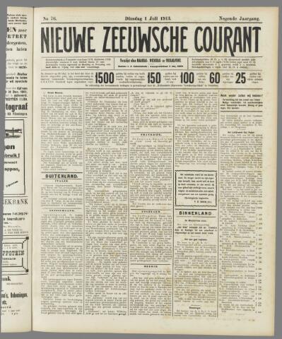 Nieuwe Zeeuwsche Courant 1913-07-01