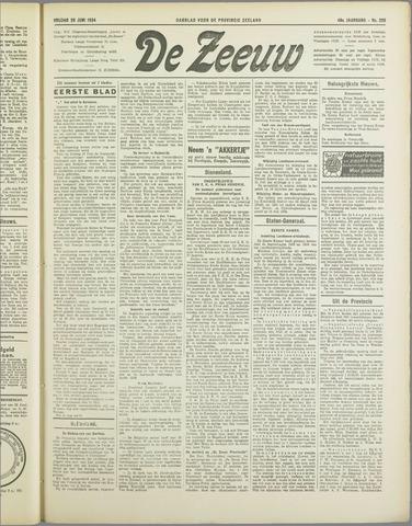 De Zeeuw. Christelijk-historisch nieuwsblad voor Zeeland 1934-06-29