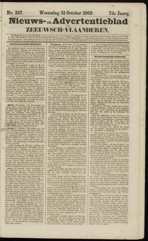 Ter Neuzensche Courant. Algemeen Nieuws- en Advertentieblad voor Zeeuwsch-Vlaanderen / Neuzensche Courant ... (idem) / (Algemeen) nieuws en advertentieblad voor Zeeuwsch-Vlaanderen 1860-10-31