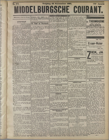 Middelburgsche Courant 1921-11-18