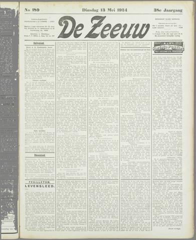 De Zeeuw. Christelijk-historisch nieuwsblad voor Zeeland 1924-05-13