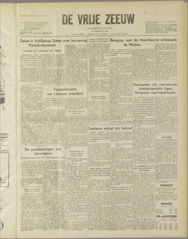 de Vrije Zeeuw 1958-06-26
