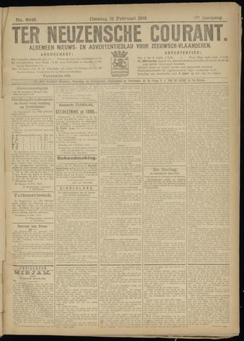 Ter Neuzensche Courant. Algemeen Nieuws- en Advertentieblad voor Zeeuwsch-Vlaanderen / Neuzensche Courant ... (idem) / (Algemeen) nieuws en advertentieblad voor Zeeuwsch-Vlaanderen 1918-02-12