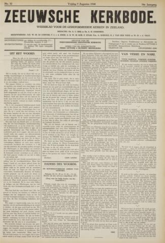 Zeeuwsche kerkbode, weekblad gewijd aan de belangen der gereformeerde kerken/ Zeeuwsch kerkblad 1940-08-09