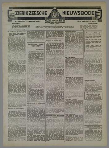 Zierikzeesche Nieuwsbode 1942-01-14