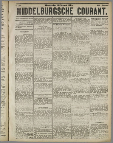 Middelburgsche Courant 1921-03-16
