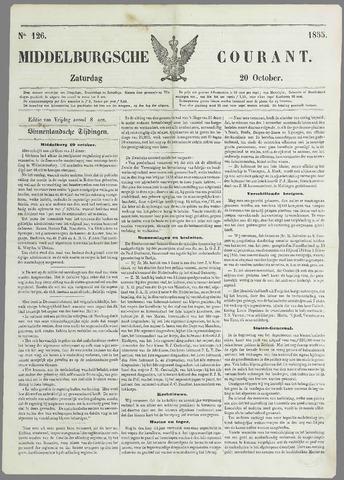 Middelburgsche Courant 1855-10-20