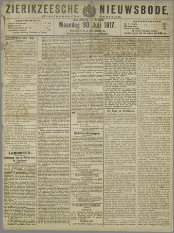 Zierikzeesche Nieuwsbode 1917-07-30
