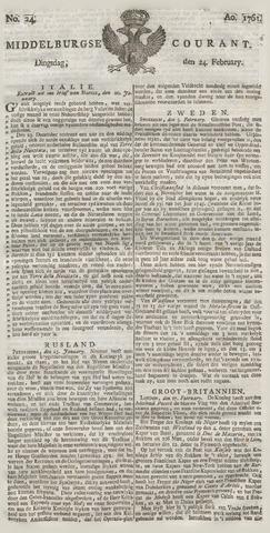 Middelburgsche Courant 1761-02-24