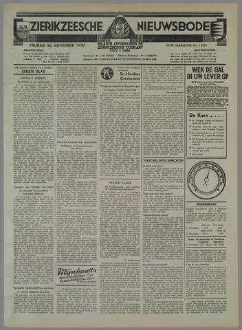 Zierikzeesche Nieuwsbode 1937-11-26