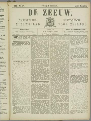De Zeeuw. Christelijk-historisch nieuwsblad voor Zeeland 1886-12-21