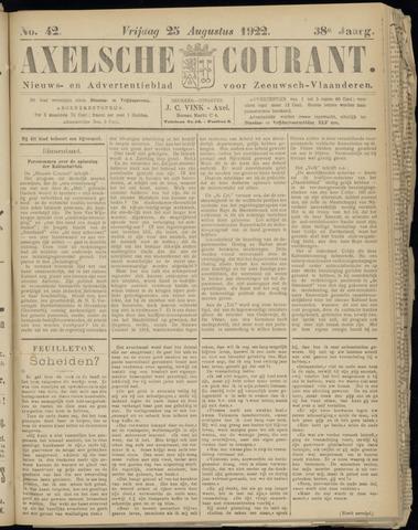 Axelsche Courant 1922-08-25