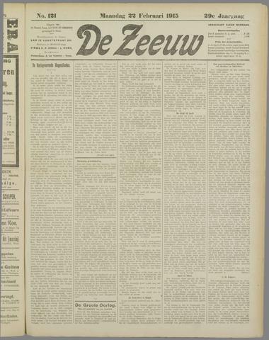 De Zeeuw. Christelijk-historisch nieuwsblad voor Zeeland 1915-02-22