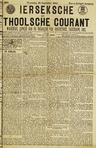 Ierseksche en Thoolsche Courant 1914-09-23