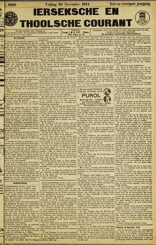 Ierseksche en Thoolsche Courant 1924-11-28