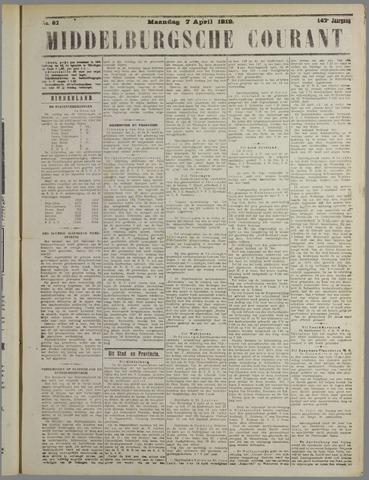 Middelburgsche Courant 1919-04-07