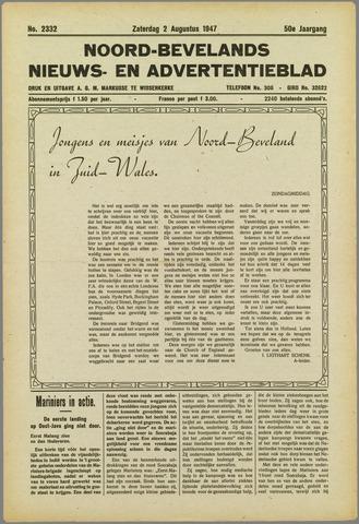 Noord-Bevelands Nieuws- en advertentieblad 1947-08-02