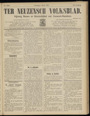 Ter Neuzensch Volksblad. Vrijzinnig nieuws- en advertentieblad voor Zeeuwsch- Vlaanderen / Zeeuwsch Nieuwsblad. Nieuws- en advertentieblad voor Zeeland 1913-03-01