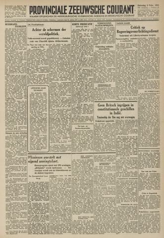 Provinciale Zeeuwse Courant 1946-02-02