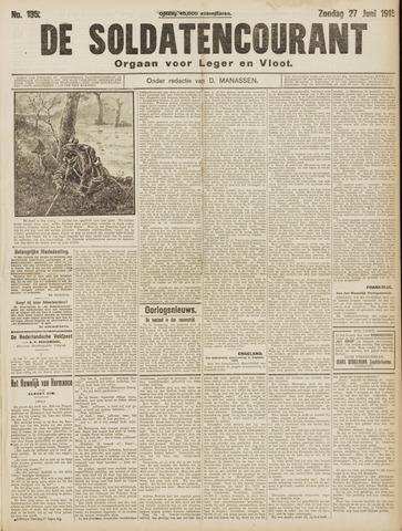 De Soldatencourant. Orgaan voor Leger en Vloot 1915-06-27