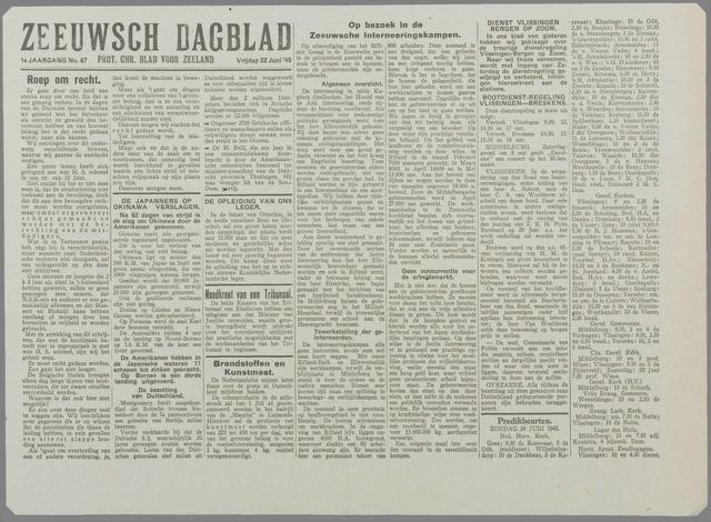 Zeeuwsch Dagblad 1945-06-22