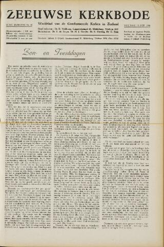 Zeeuwsche kerkbode, weekblad gewijd aan de belangen der gereformeerde kerken/ Zeeuwsch kerkblad 1950-10-13